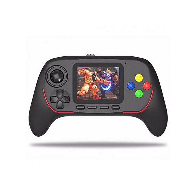 16-Bit Rechargeable HD Digital Game Console And 788 Integrated Games - Black