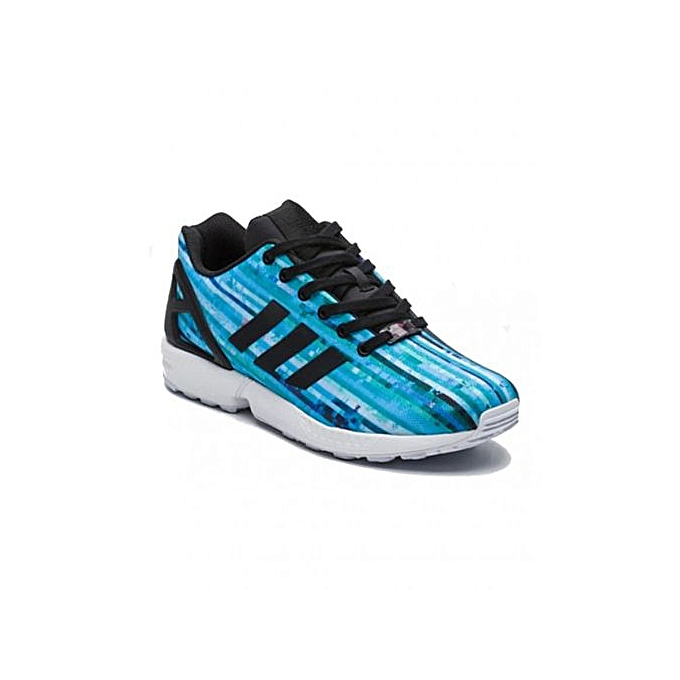 wholesale dealer 806e3 ddc31 Blue, White And Black Zx Flux Shoes