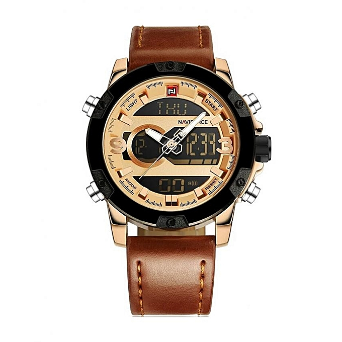 s i watch leather en xl item gold brown dial buy titan men band ae light watches