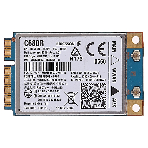 Wireless Network Card for Dell C680R WWAN UMTS Wireless 5540 dw5540  Ericsson F3607GW