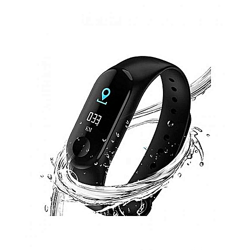 Flash Sale - M3 Smartwatch Heart Rate Monitor Compatible - Black