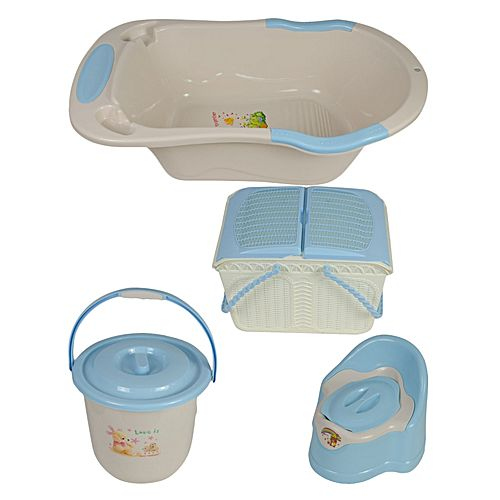 b b bassine panier seau pot beige et bleu jumia cameroun. Black Bedroom Furniture Sets. Home Design Ideas