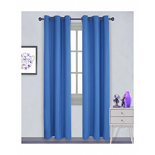 rideaux draperies paire de rideaux occultants oeillets bleu jumia cameroun. Black Bedroom Furniture Sets. Home Design Ideas