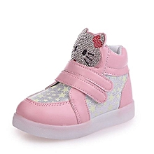 b2f83c1a18604 Kitty Cat Led Lighting Sports Shoes For Kids