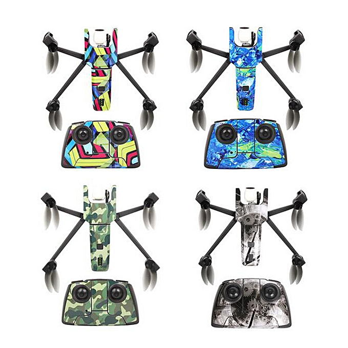 Waterproof Stickers DIY PVC Decal Skin Cover for Parrot Anafi Drone Body  Remote Controller Battery-blackwhite Human skeleton