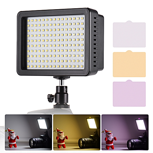 Andoer Portable 160pcs LED Video Light Lamp 5600K Color Temperaure with  Dimmable Switch Ultra Bright Camera Lighting Panel 3 Filters for Photo  Video