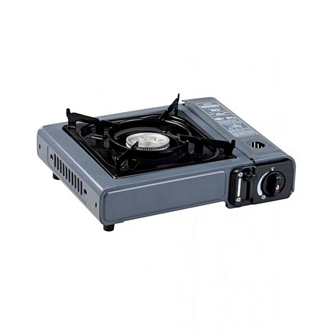 Excellent Portable Gas Stove 1 Burner Grey And Black Interior Design Ideas Clesiryabchikinfo