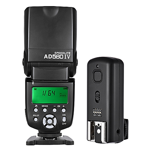 Andoer AD560 IV 2 4G Wireless Universal On-camera Slave Speedlite Flash  Light GN50 with Flash Trigger for Nikon for Sony A7/ A7 II/ A7S/ A7R/ A7S  II