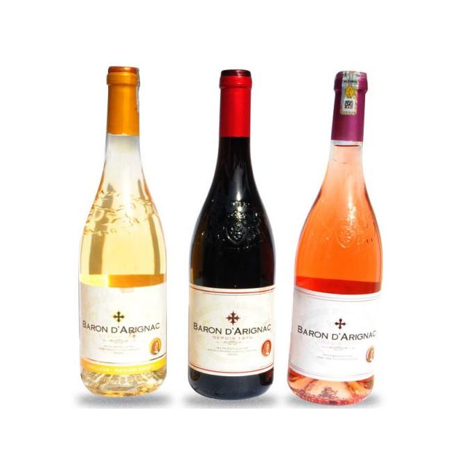 Pack - Rose Wine, Fluffy White And Red